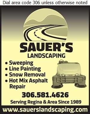 Sauer's Landscaping - Parking Areas Construction & Maintenance Digital Ad