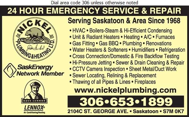Nickel Plumbing & Heating (1985) Ltd - Plumbing Contractors Digital Ad