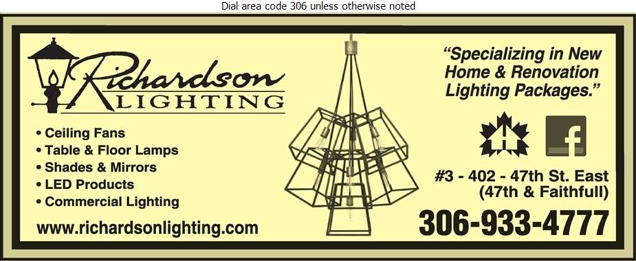 Richardson Lighting - Lighting Fixtures Retail Digital Ad