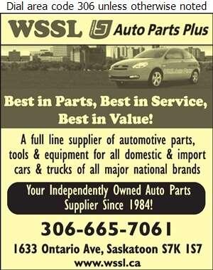 WSSL Auto Parts - Auto Parts & Supplies Retail Digital Ad