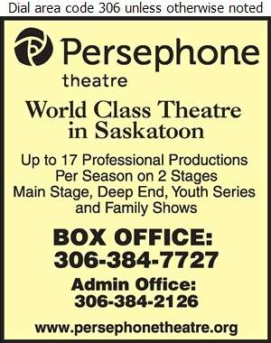 Persephone Theatre (Fax) - Theatres Live Digital Ad