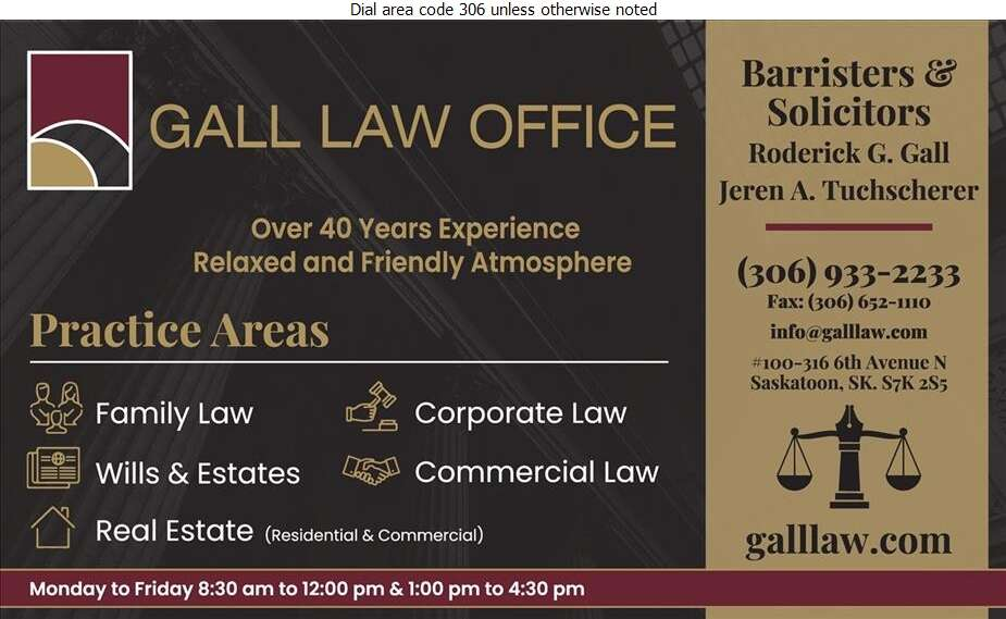 Gall Law Office - Lawyers Digital Ad