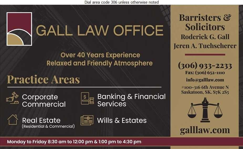 Gall Law Office - Lawyers Digital Ad