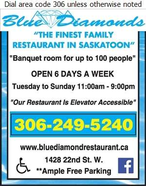 Blue Diamond Restaurant - Banquet Rooms Digital Ad