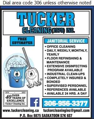 Tucker Cleaning (1979) Inc - Janitor Service Digital Ad