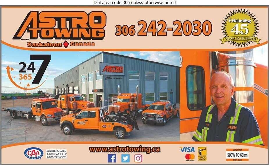 Astro Towing (1988) Ltd - Towing & Boosting Service Digital Ad