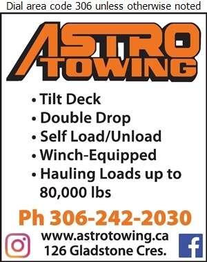 Astro Towing (1988) Ltd - Hauling - General Digital Ad