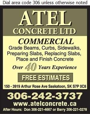 Atel Concrete Ltd - Concrete Contractors Digital Ad