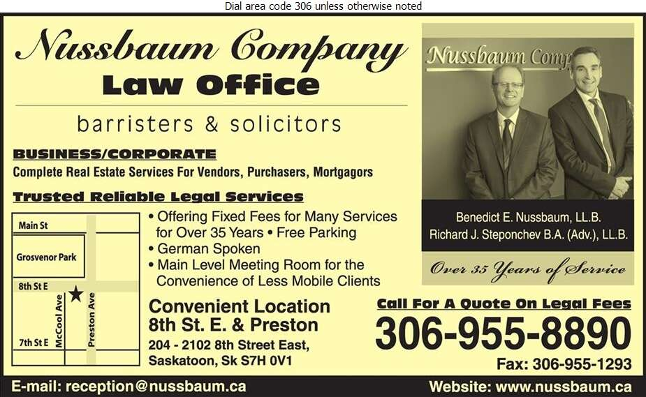 Nussbaum & Company - Lawyers Digital Ad