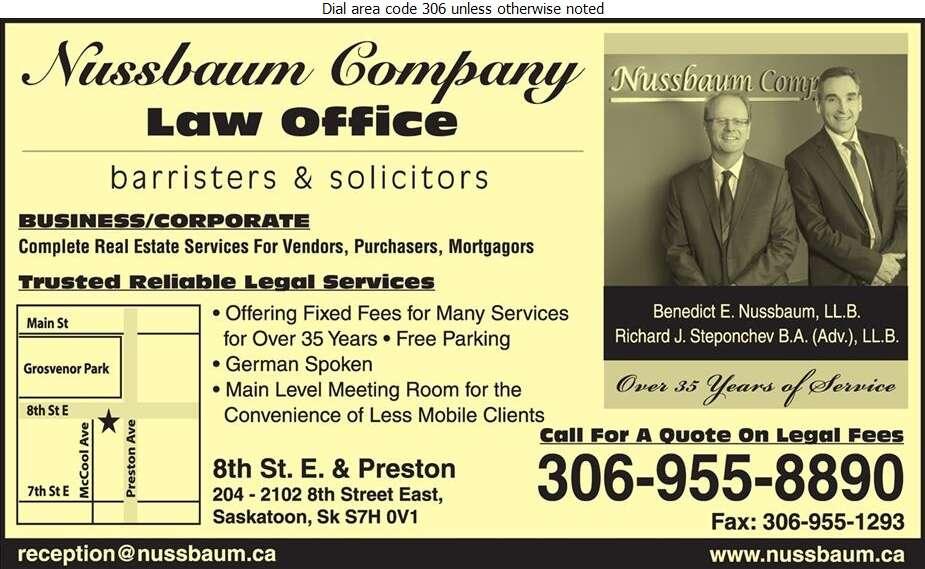 Nussbaum & Company - Lawyers Digital Ad