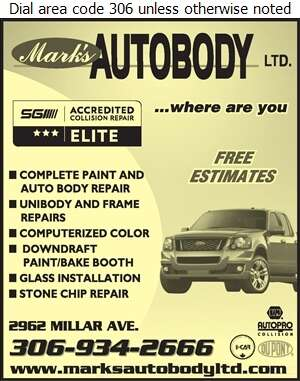 Mark's Auto Body Ltd - Auto Body Repairing Digital Ad