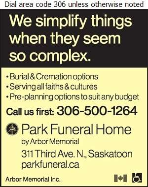 Park Funeral Home - Funeral Homes & Planning Digital Ad