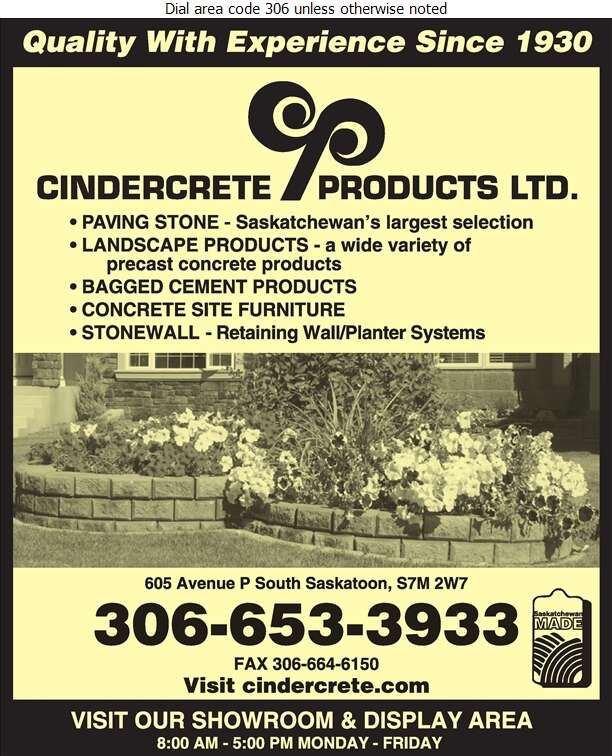 Cindercrete Products Ltd - Concrete Products Digital Ad