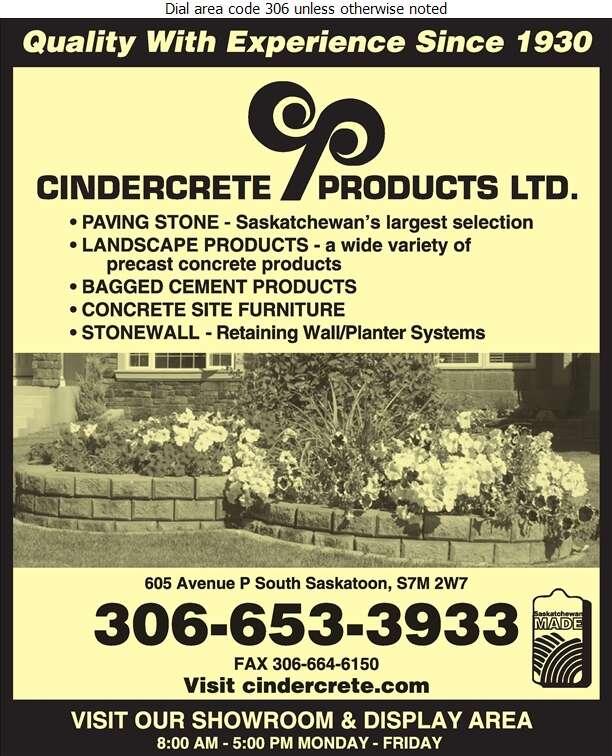 Cindercrete Products Ltd (TRANS-MIX CONCRETE) - Concrete Products Digital Ad