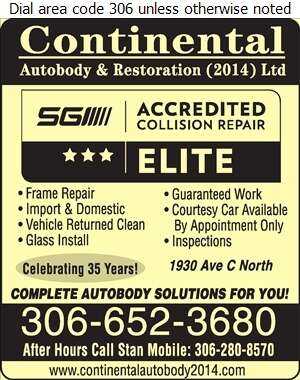 Continental Auto Body & Restoration Ltd - Auto Body Repairing Digital Ad