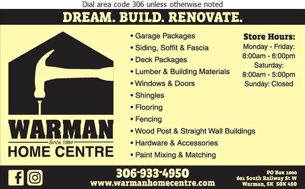 Warman Home Centre - Lumber Retail Digital Ad
