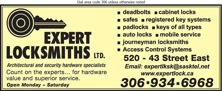Expert Locksmiths Ltd - Locksmiths Digital Ad