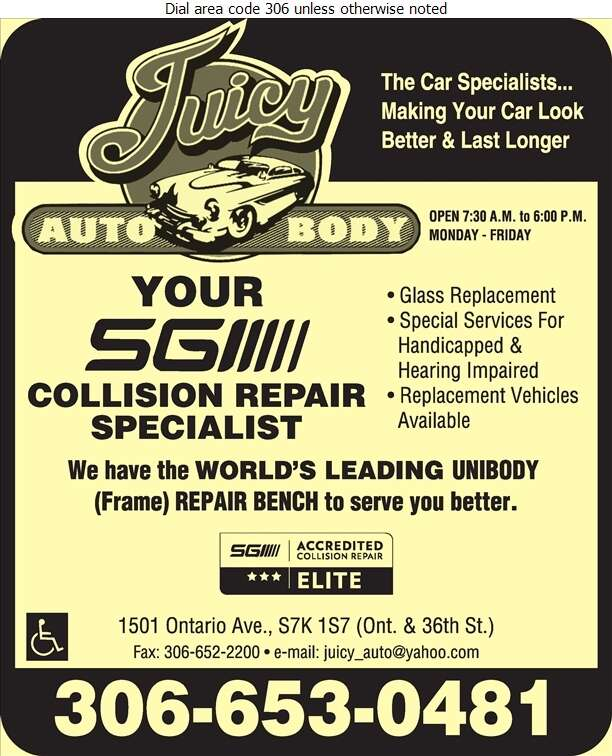 Juicy Auto Body & Painting Inc - Auto Body Repairing Digital Ad