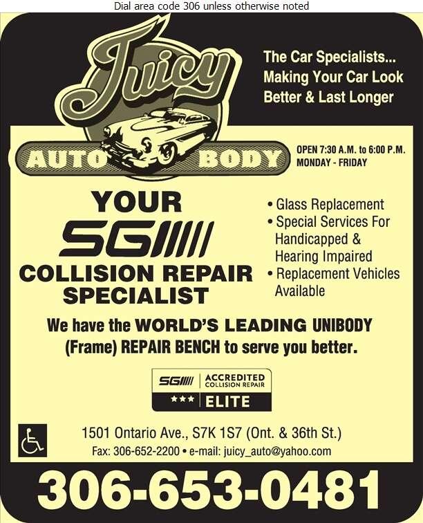Juicy Auto Body & Painting Inc - Auto Body Repairing Digital Ad