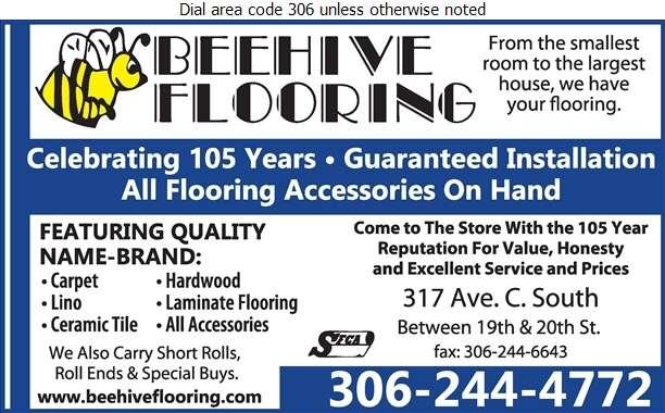 Bee Hive Flooring Group - Floor Covering Digital Ad