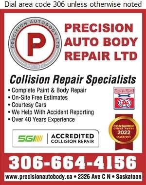 Precision Auto Body Repairs Ltd - Auto Body Repairing Digital Ad