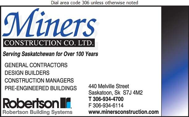 Miners Construction Co Ltd - Contractors General Digital Ad