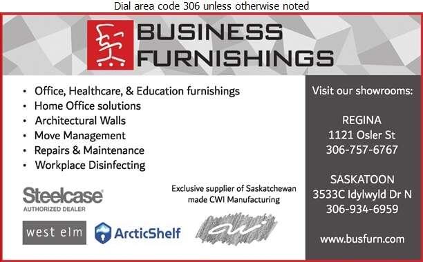 Business Furnishings (Sask) Ltd - Office Furniture & Equipment Digital Ad