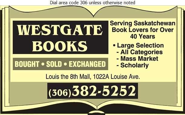 Westgate Books Inc - Book Dealers Retail Digital Ad