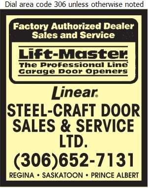 Steel Craft Door Sales Amp Service Ltd Saskatoon Sk