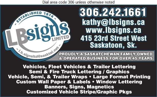 L B Signs Ltd - Signs Digital Ad