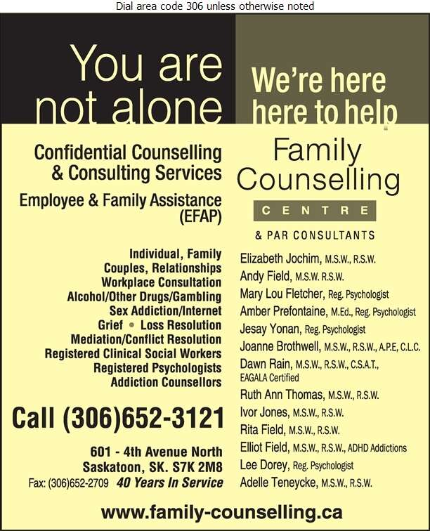 Family Counselling Centre - Marriage & Family Counsellors Digital Ad