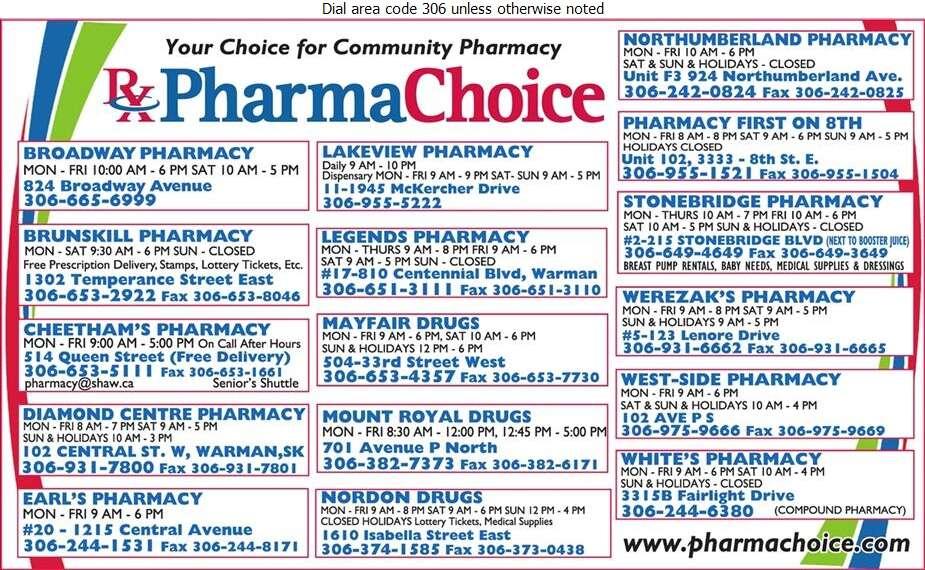 PharmaChoice Western Inc (Saskatoon Head Office) - Pharmacies Digital Ad