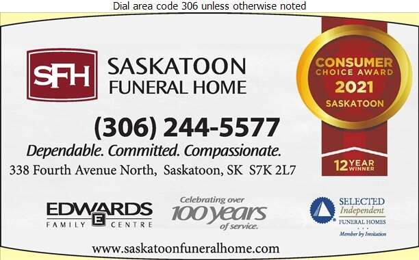 Saskatoon Funeral Home (David Dupuis Res) - Funeral Homes & Planning Digital Ad