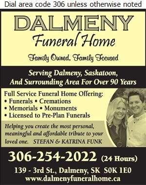 Dalmeny Funeral Home - Crematorium Services Digital Ad