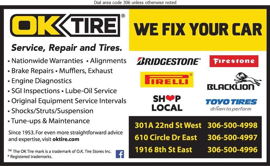 OK Tire & Auto Service - Tire Dealers Retail Digital Ad