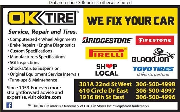 OK Tire & Auto Service - Wheel Alignment, Frame & Axle Servicing Auto Digital Ad