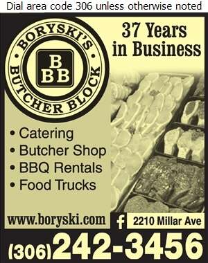 Boryski's Butcher Block Ltd - Caterers Digital Ad