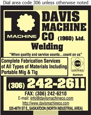Davis Machine Co (Jim Rhode Res) - Welding Digital Ad