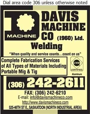 Davis Machine Co - Welding Digital Ad