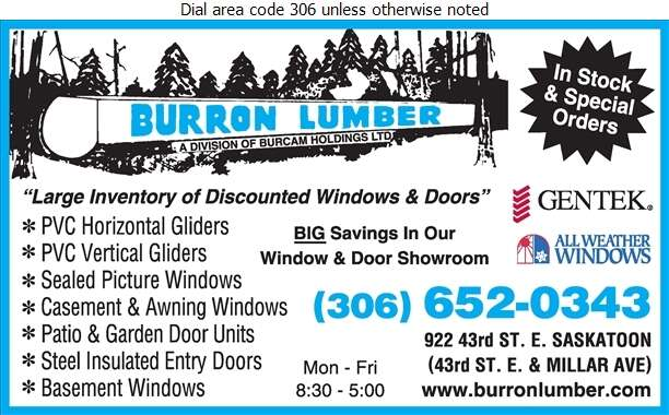 Burron Lumber - Windows Digital Ad