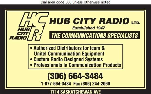 Hub City Radio Ltd - Radio Communication Equipment & Systems Digital Ad
