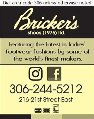 Bricker's Shoes (1975) Ltd - Shoes Retail Digital Ad
