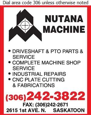Nutana Machine Ltd - Machine Shops Digital Ad