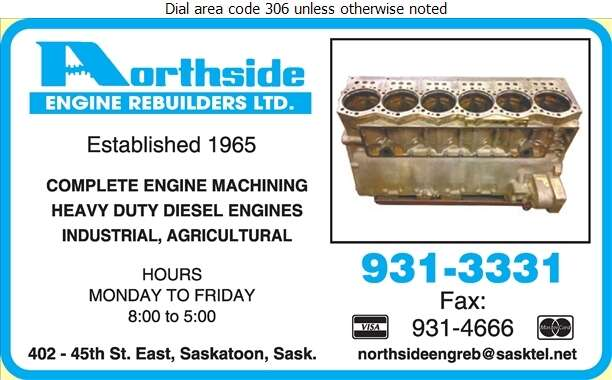 Northside Engine Rebuilders Ltd - Engines Rebuilding & Exchanging Digital Ad