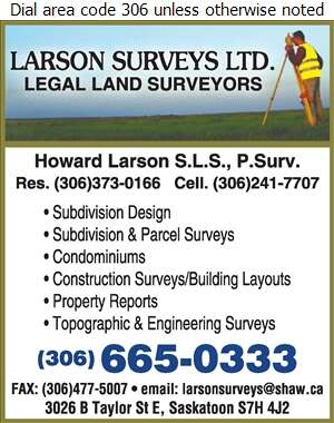 Larson Surveys Ltd - Surveyors Land Digital Ad