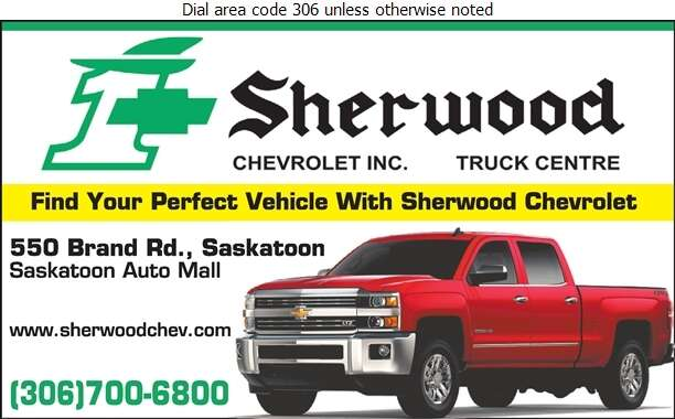 Sherwood Chevrolet Truck Centre (Accounting Dept Fax) - Auto Dealers New Cars Digital Ad