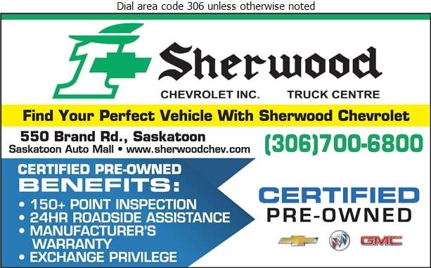 Sherwood Chevrolet Truck Centre (Fax) - Auto Dealers Used Cars Digital Ad
