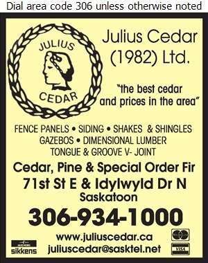 Julius Cedar (1982) Ltd - Lumber Retail Digital Ad