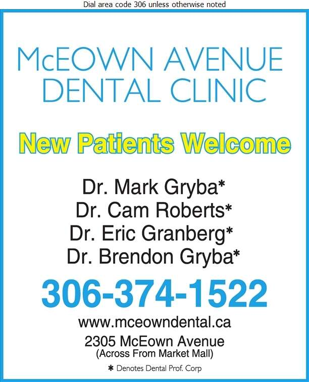 McEown Avenue Dental Clinic - Dentists Digital Ad
