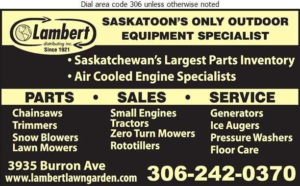 Lambert Distributing Inc - Lawn Mowers Sales & Service Digital Ad